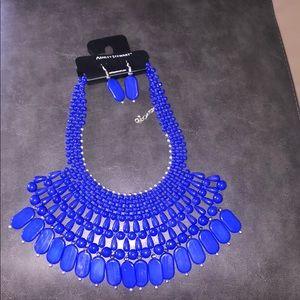Ashley Stewart Statement Multi bead Necklace